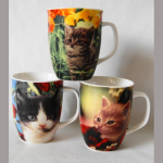 Kaffeebecher Katze sortiert 10cm