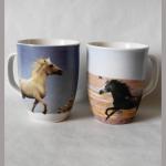 Kaffeebecher Pferd sortiert 10cm