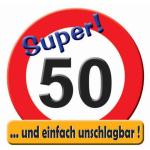 Riesen-Schild  Hurra! 50