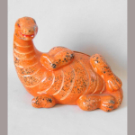 Sparkasse Dino liegend orange 15cm