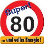 Riesen-Schild  Hurra! 80