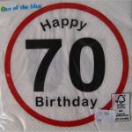 Servietten Happy Birthday 70 Jahre