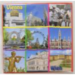 Magnet Wien Quadrat rot 503
