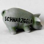 Sparschwein Schwarzgeld 16cm grün