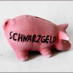 Sparschwein Schwarzgeld 16cm rosa