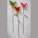 Schmetterlinge/Stab Kunstst. 21cm