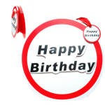 Geschenktasche Happy Birthday 30cm