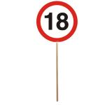 Minischild m.Stab 18Jahre 12tlg  DM:9,5cm