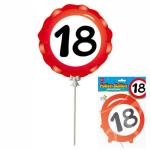 Ballon 18 Jahre selbstaufblasbar  3teilig