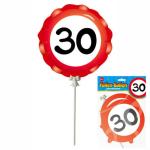 Ballon 30 Jahre selbstaufblasbar  3teilig