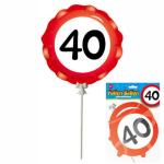 Ballon 40 Jahre selbstaufblasbar  3teilig