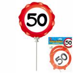 Ballon 50 Jahre selbstaufblasbar  3teilig