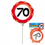 Ballon 70 Jahre selbstaufblasbar  3teilig