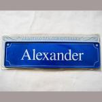 Namensschild Alexander 7x26cm