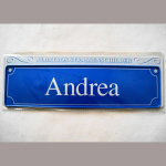 Namensschild Andrea 7x26cm