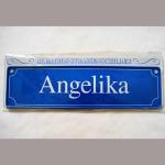 Namensschild Angelika 7x26cm