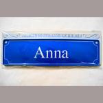 Namensschild Anna 7x26cm