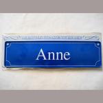 Namensschild Anne 7x26cm