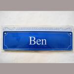 Namensschild Ben 7x26cm
