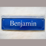 Namensschild Benjamin 7x26cm