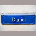 Namensschild Daniel 7x26cm