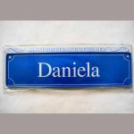 Namensschild Daniela 7x26cm