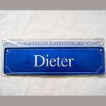 Namensschild Dieter 7x26cm
