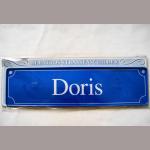 Namensschild Doris 7x26cm