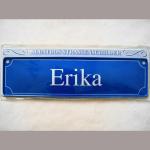 Namensschild Erika 7x26cm