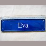 Namensschild Eva 7x26cm
