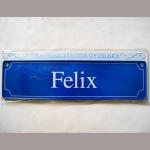 Namensschild Felix 7x26cm