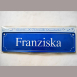 Namensschild Franziska 7x26cm