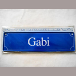 Namensschild Gabi 7x26cm