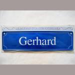 Namensschild Gerhard 7x26cm