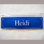 Namensschild Heidi 7x26cm