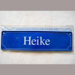 Namensschild Heike 7x26cm
