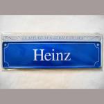 Namensschild Heinz 7x26cm
