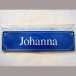 Namensschild Johanna 7x26cm