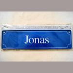 Namensschild Jonas 7x26cm