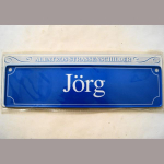Namensschild Jörg 7x26cm