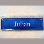Namensschild Julian 7x26cm