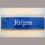 Namensschild Jürgen 7x26cm