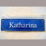 Namensschild Katharina 7x26cm