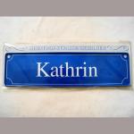 Namensschild Kathrin 7x26cm