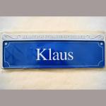 Namensschild Klaus 7x26cm