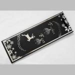 Offsettragtaschen Weihnachten lang Silber 12x35cm
