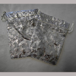 Organza Sackerl Silber 13x18cm