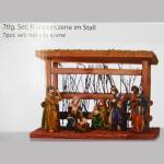 Krippenszene Stall 25x17cm
