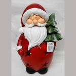 Windlicht Weihnachtsmann 35cm
