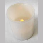Led-Kerze aus Wachs creme 10cm